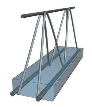 Балка «Домовладелец» с уже залитым бетонным нижним основанием